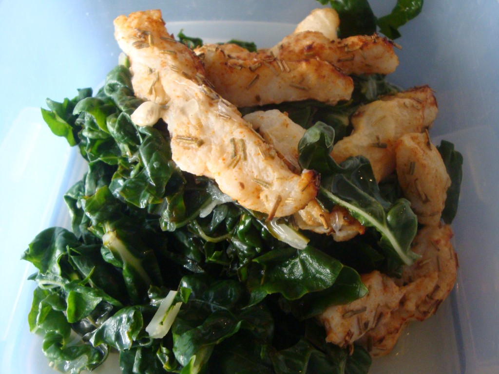 Paprika Chicken on Spinach