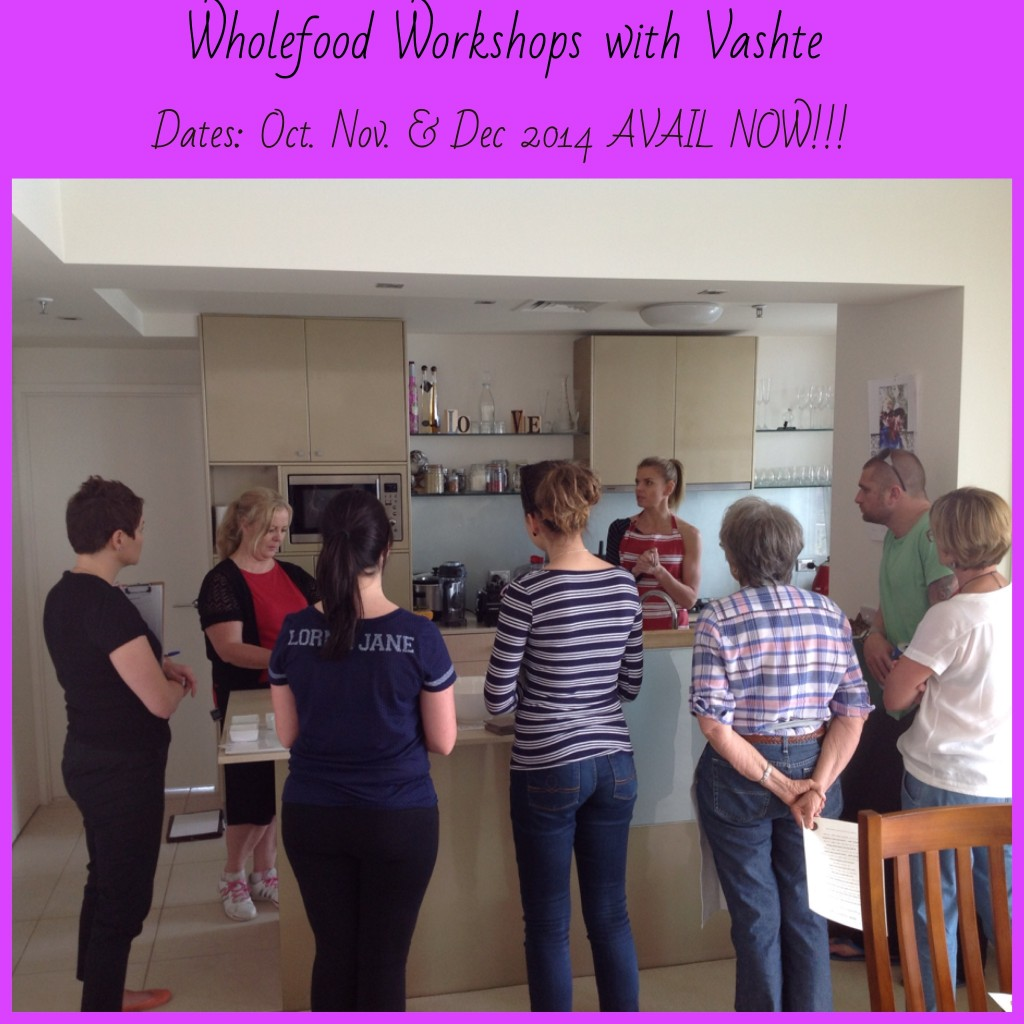 wholefood workshop dates Oct-Dec 2014